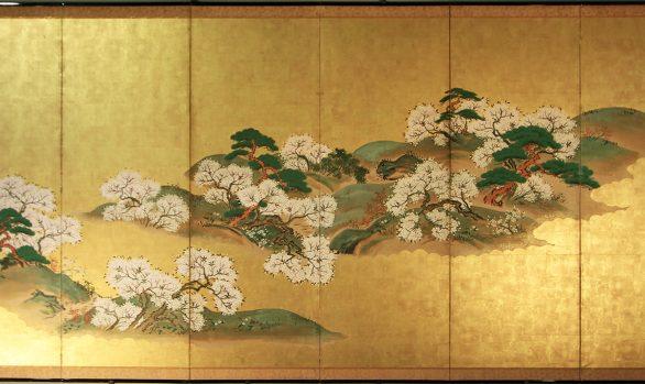Paraventi Giapponesi - Japanese Folding Screens. W 5579