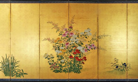 Paraventi Giapponesi - Japanese Folding Screens W 6586